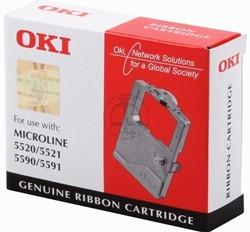 OKI tape OKI 01126301 Nylontape zwart, Inhoud 4.000.000 Teken voor Microline 5520/5521/5591/ML 5520/55...
