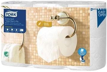Tork toiletpapier Extra Soft 3-laags voor systeem T4, pak van 6 rollen