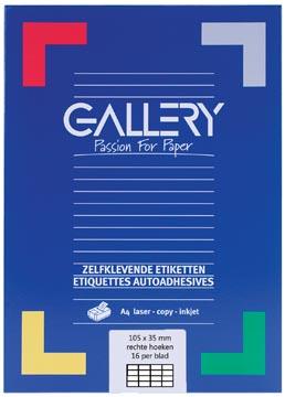 Gallery universele etiketten 105 x 35mm 16 etiketten per vel
