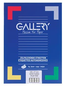 Gallery universele etiketten  105 x 37mm 16 etiketten per vel