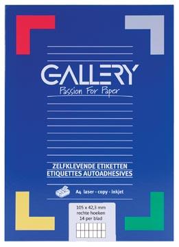 Gallery universele etiketten  105 x 42,3mm 14 etiketten per vel