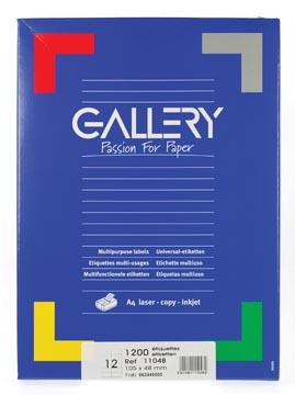 Gallery universele etiketten  105 x 48mm 12 etiketten per vel