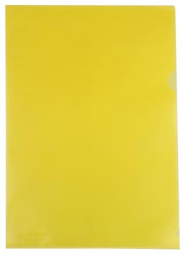 Transparante insteekmap geel 120 micron 25 stuks
