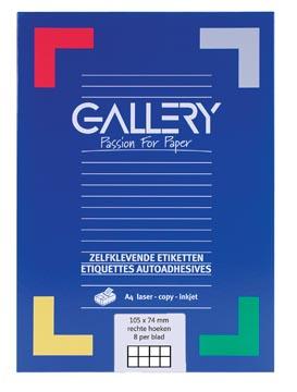 Gallery universele etiketten  105 x 74mm 8 etiketten per vel