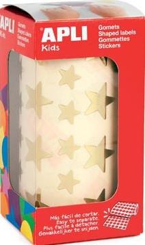 Apli Stickers ster goud 2.360 stuks