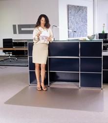 Bureaustoelmat 120x150cm voor tapijtvloeren
