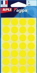 Agipa ronde etiketten 15mm geel