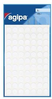 Agipa ronde etiketten 8mm wit