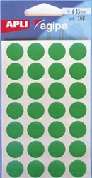 Agipa ronde etiketten 15mm groen