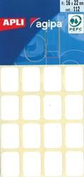 Agipa witte etiketten 16x22mm