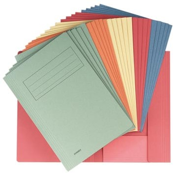 Dossiermap karton A4 geassorteerde kleuren ds/50