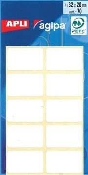 Agipa witte etiketten 20x32mm