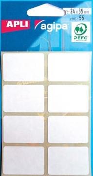 Agipa witte etiketten 24x35mm