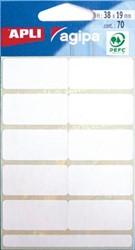 Agipa witte etiketten 19x38mm