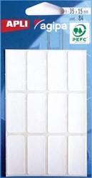 Agipa witte etiketten 15x35mm