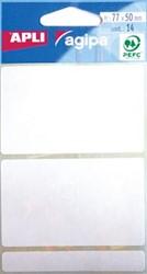Agipa witte etiketten 50x77mm