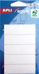 Agipa witte etiketten 19x62mm