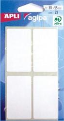 Agipa witte etiketten 30x55mm
