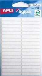 Agipa witte etiketten 5x35mm