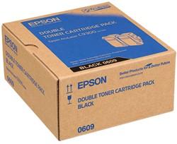 C13S050609 EPSON ALC9300N TONER (2) BLK 2x2500pages