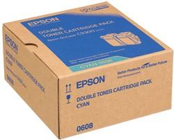C13S050608 EPS ALC9300N TONER(2) CYAN 2x7500pages