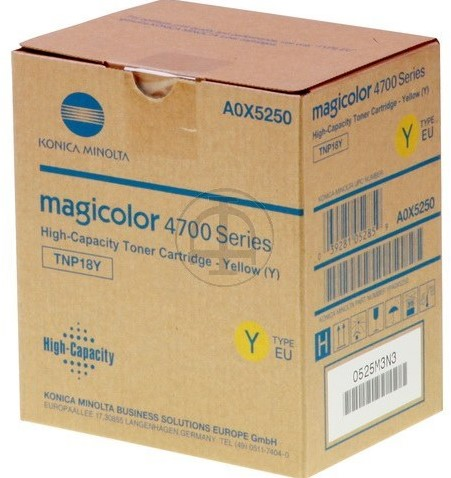 A0X5250 KON MC4750 TONER YEL 6000pages ISO19798 TNP18Y