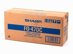 FO47DC SHARP FO4700 CARTR BLK 8000pages/3%cov Ton/Dev