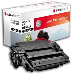HP 11X compatible toner AgfaPhoto Q6511X zwart higk capacity