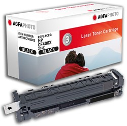 APTHPCF400XE AP HP CLJPROM250 CARTR BLK CF400X/201X 2800pages
