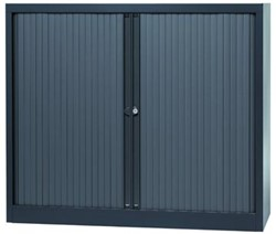 Bisley roldeurkast antracietkleurig, ft 103 x 120 x 43 cm (h x b x d)