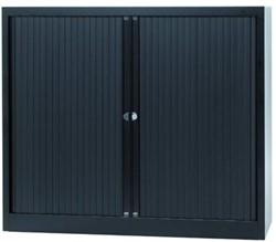 Bisley roldeurkast zwart, ft 103 x 120 x 43 cm (h x b x d)