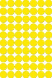 Agipa ronde etiketten 19mm geel