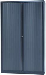Bisley roldeurkast antracietkleurig, ft 198 x 120 x 43 cm (h x b x d)