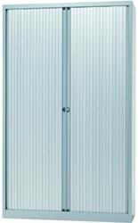 Bisley roldeurkast zilverkleurig, ft 198 x 120 x 43 cm (h x b x d)