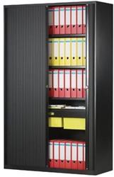 Bisley roldeurkast zwart, ft 198 x 120 x 43 cm (h x b x d)