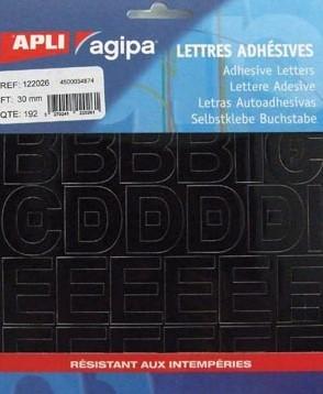 Plakletters 30 mm zwart 192 letters