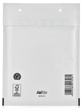 Bong luchtkussenenveloppen 150 x 215 mm met stripsluiting wit doos van 100 stuks