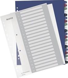 Printbaar tabbladen A4 extra breed met genummerd tabs van 1-20