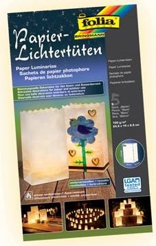 Folia Lichtzak 24,5 x 14 x 8,5 cm neutraal