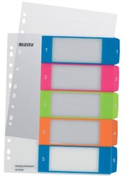 Tabbladen genummerd A4 extra breed met 1-5 tabs en printbaar