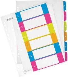 Leitz tabbladen met 6 geplastificeerde tabs en 11-gaatsperforatie