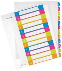 Printbare tabbladen A4 extra breed met 12 tabs van Leitz Wow