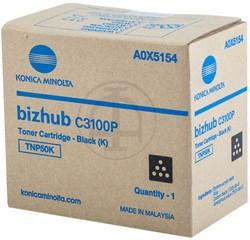 A0X5154 KONICA BIZHUB C3100 TONER BLK 5000pages TNP50K