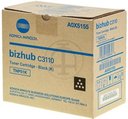 A0X5155 KONICA BIZHUB C3110 TONER BLK 5000pages TNP51K