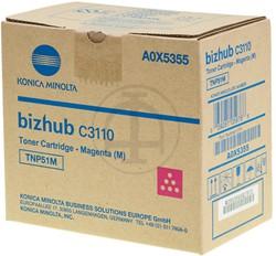 A0X5355 KONICA BIZHUB C3110 TONER MAG 5000pages TNP51M