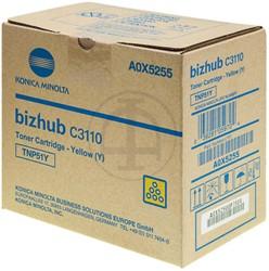 A0X5255 KONICA BIZHUB C3110 TONER YEL 5000pages TNP51Y