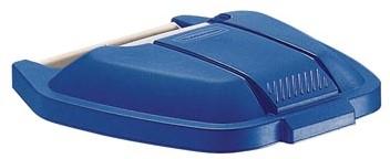 Deksel voor Rubbermaid container 100 liter blauw