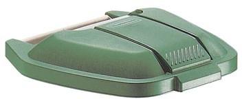 Deksel voor Rubbermaid container 100 liter groen