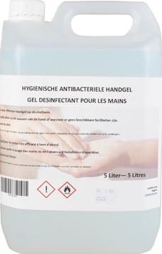 Desinfecterende handgel op basis van alcohol can 5 liter