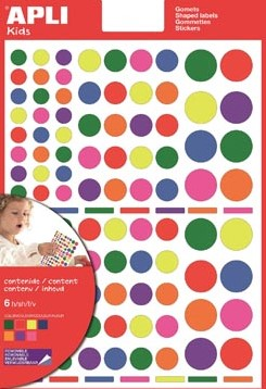 Apli verwijderbare stickers cirkels 624 stuks